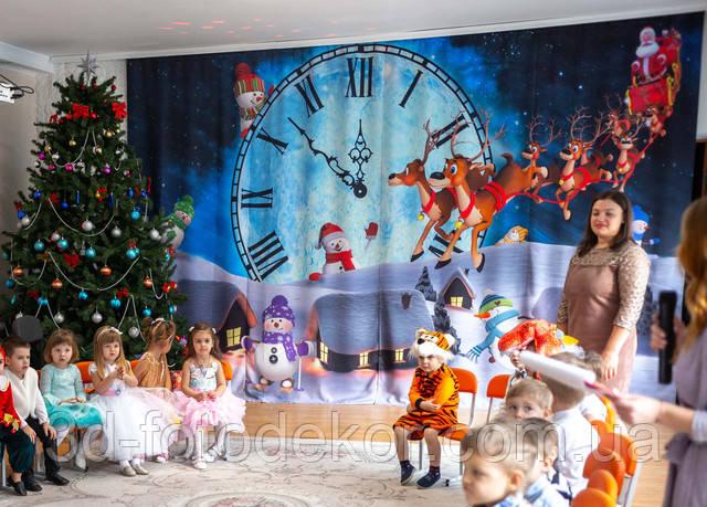 новорічні фото штори в інтер'єрі