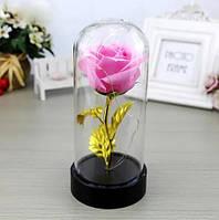 Стабилизированная роза в колбе с LED подсветкой Подарки любимой в Украине