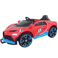 Детский электромобиль спорткар красный на EVA колесах детям от 3 лет с пультом аккумулятором с MP3 мотор 2*18W