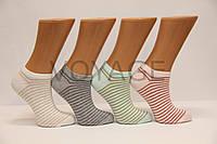 Женские носки короткие классика Ф3   люрексовая полоска