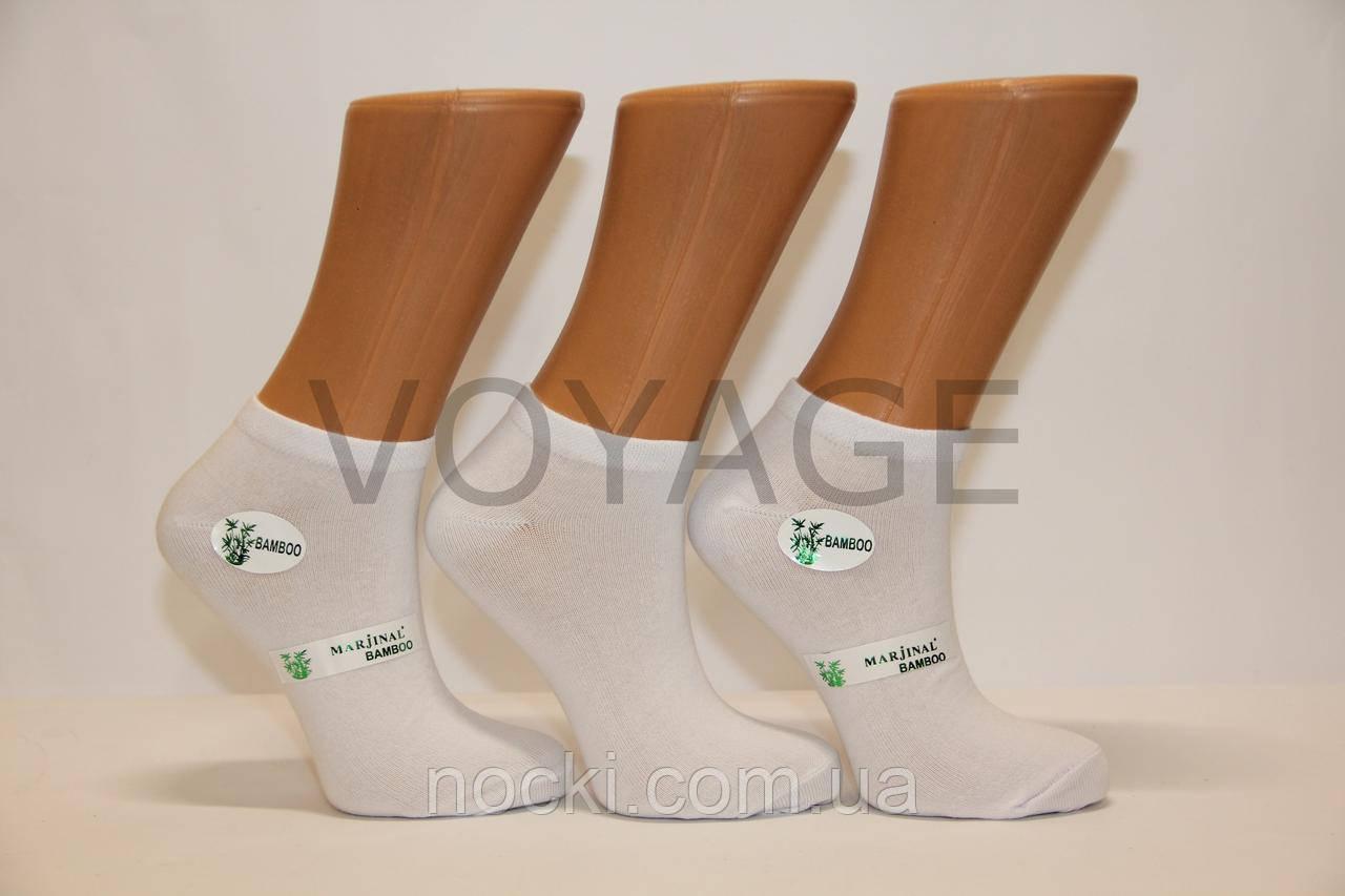 Жіночі шкарпетки короткі з бамбука Маржінал 36-40 білий