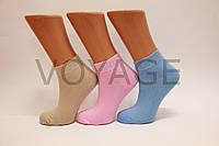 Женские носки короткие с хлопка UGS  35-38 яркие ассорти