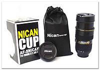 Кружка, термос - объектив Nikon 24-70 mm ZOOM
