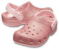 Crocs Kids Classic Glitter Clog оригинал США C8 наш 24-25 (15.5) детские сандалии сабо original дитячі крокси 25-26