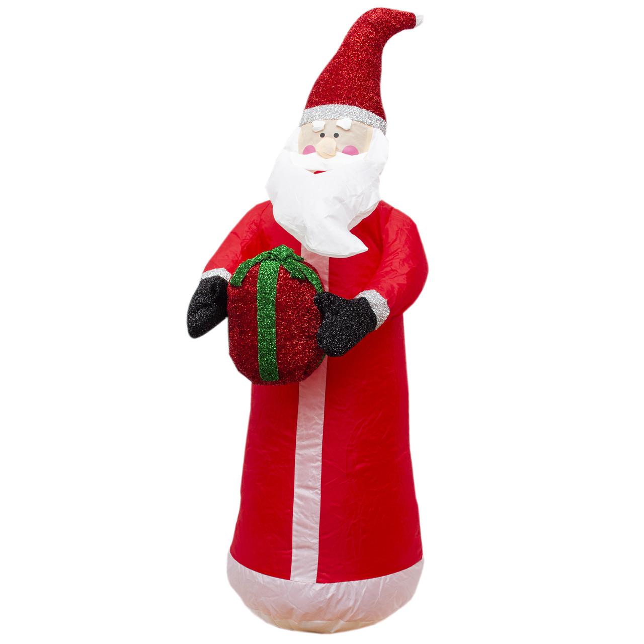 Уличный декор Надувной Дед Мороз с мешком подарков, 120 см (830169)