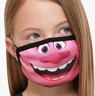 Яскрава рожева захисна маска дитяча