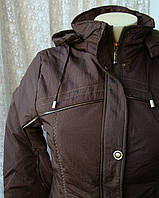 Куртка женская теплая демисезонная капюшон р.44 3995, фото 1