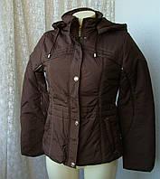 Куртка женская теплая демисезонная капюшон р.50 3998, фото 1