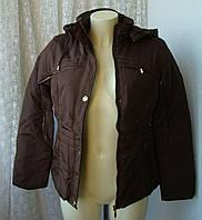 Куртка жіноча тепла демісезонна капюшон р. 48 3997, фото 1