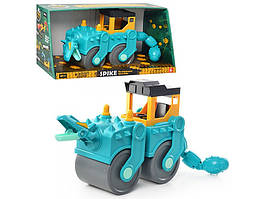 Стройтехника DS 4150 динозавр-каток, подвижные детали, в коробке, 47-23,5-20см