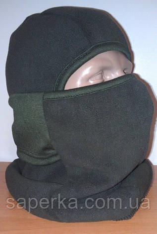Балаклава маска для экстремально низких температур (олива, черный), фото 2