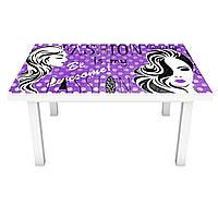 Наклейка на стіл Дольче 3Д вінілова плівка мода Дівчата Фіолетовий 600*1200 мм