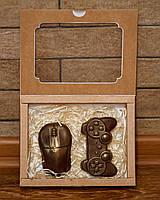 """Шоколадный подарочный набор """"Компьютерная мышка и геймпад"""" с молочного шоколада"""