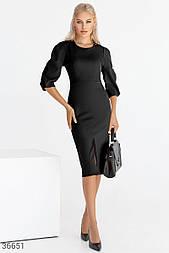 Облегающее платье-футляр черное