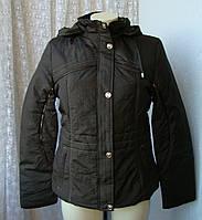 Куртка женская теплая демисезонная капюшон р.44 4000, фото 1