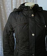 Куртка жіноча тепла демісезонна капюшон р. 46 4001, фото 1