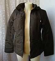 Куртка женская теплая демисезонная капюшон р.48 4002, фото 1
