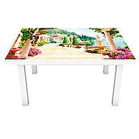 Наклейка на стол Солнечная набережная (3Д виниловая пленка 3Д) античность море Город Бежевый 600*1200 мм, фото 1
