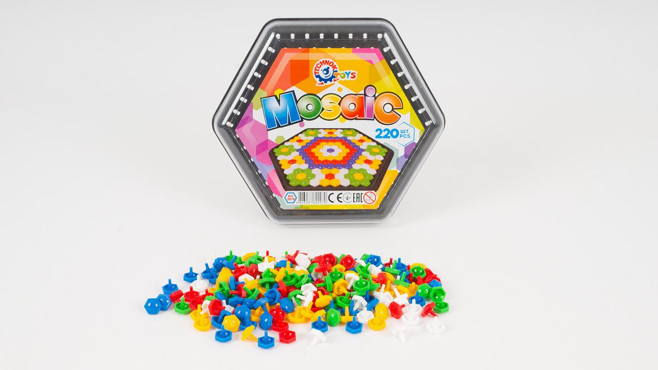 Дитяча мозаїка ТехноК. У наборі ігрове поле і 220 фішок