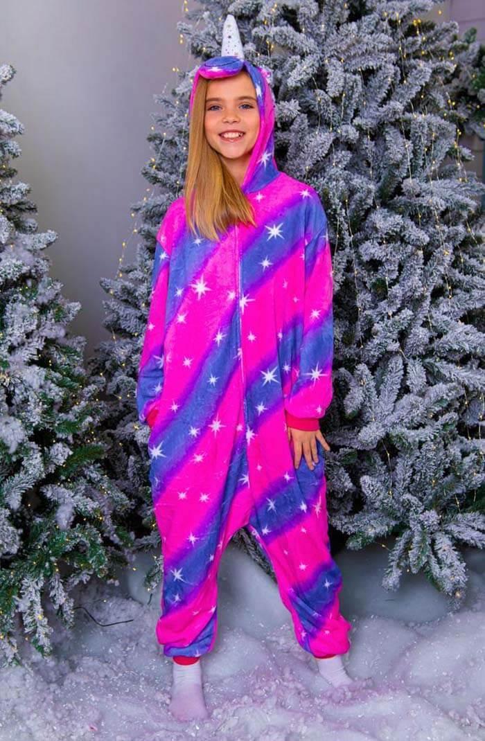Кигуруми Единорог Галактический пижама женская детская