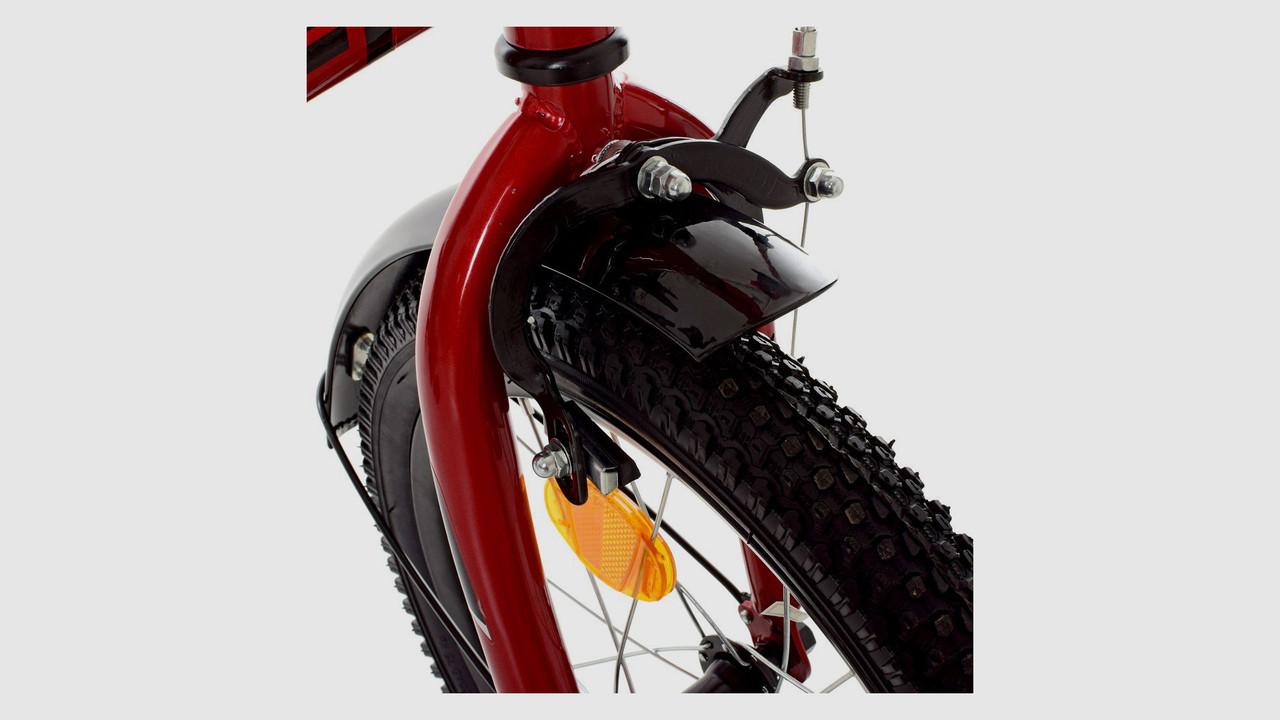 Велосипед детский PROFI 18д. Y18221 . Боковые колеса. Звонок. Красный