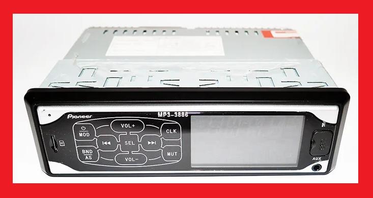 Автомагнітола Pioneer 3886 ISO MP3 Player, FM, USB, SD, AUX сенсорна магнітола