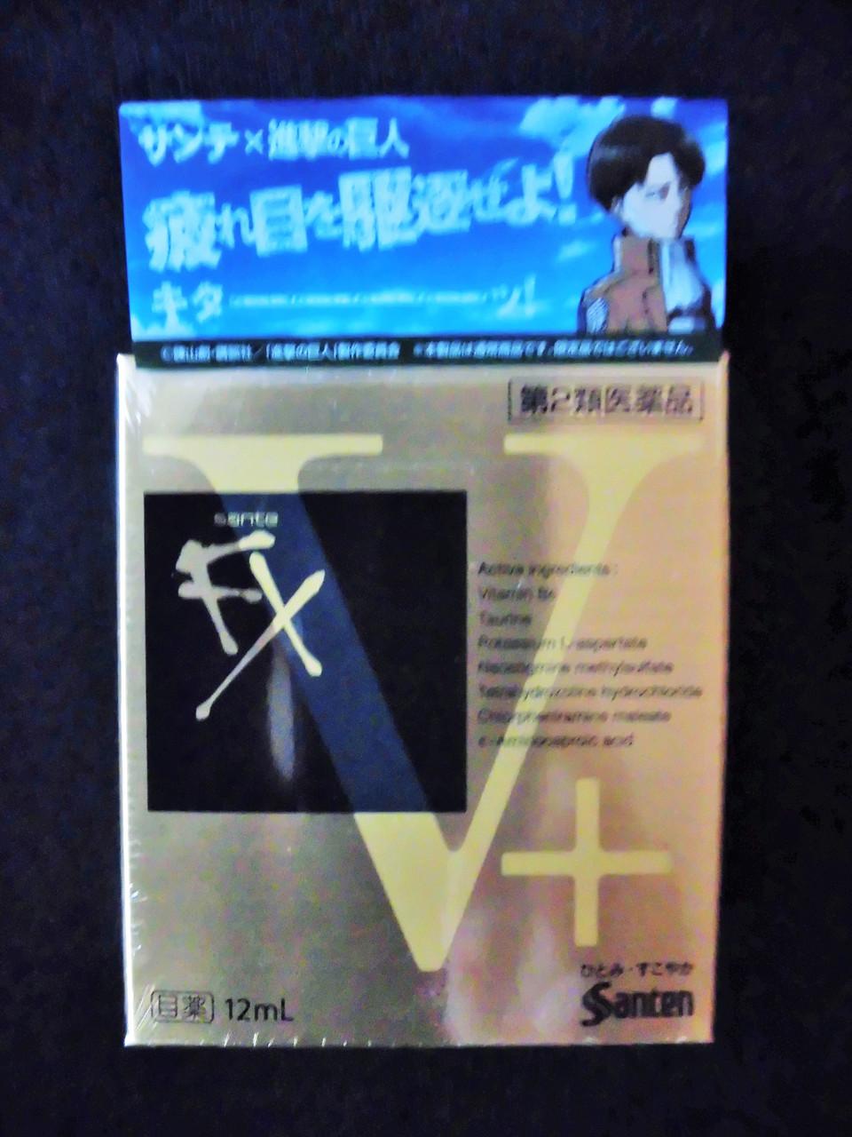 Капли для глаз Sante FX V+ Plus с витамином B6 и Таурином, снимающие дискомфорт. ( Santen, Япония)