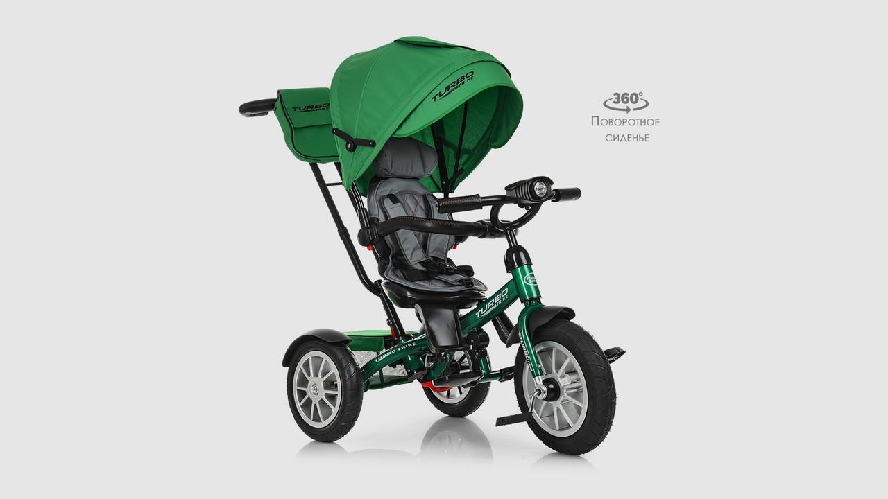 Велосипед колясочный. M4057-4 . TURBOTRIKE. Три колеса (резина). Зеленый