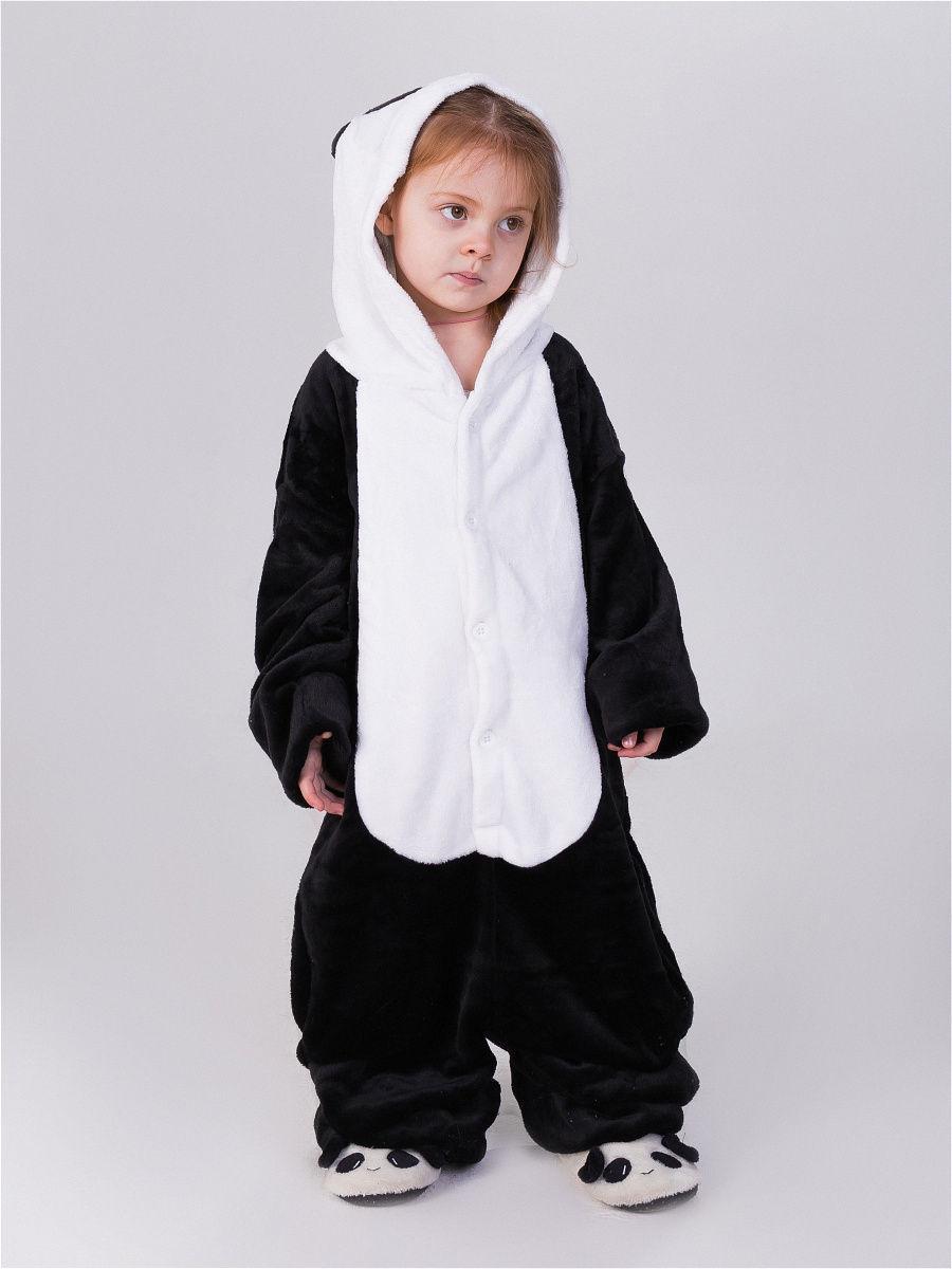 Пижама кигуруми для детей Панда грустная 110 (105-115см)