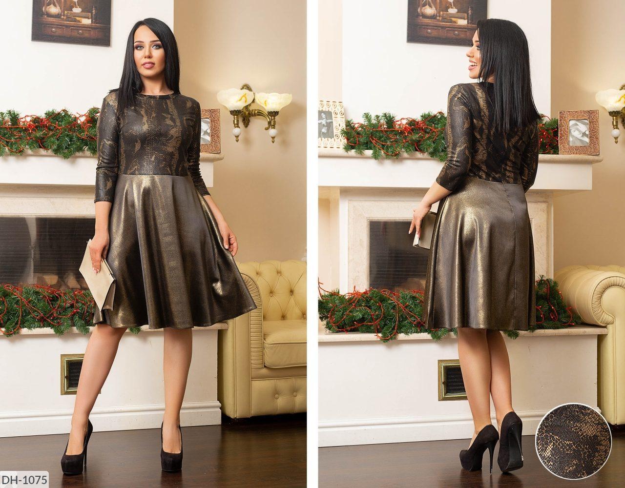 """Эффектное женское платье с юбкой солнце, ткань """"Евро сетка+Костюмная"""" размер 56"""