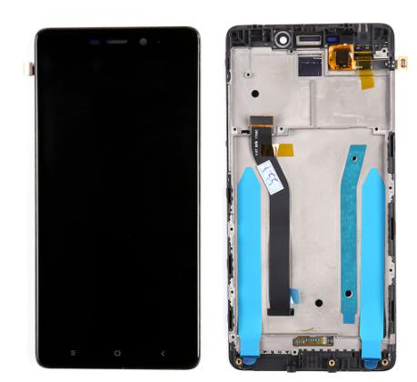 Дисплей (экран) для Xiaomi Redmi 4 Prime с сенсором (тачскрином) и рамкой черный Оригинал