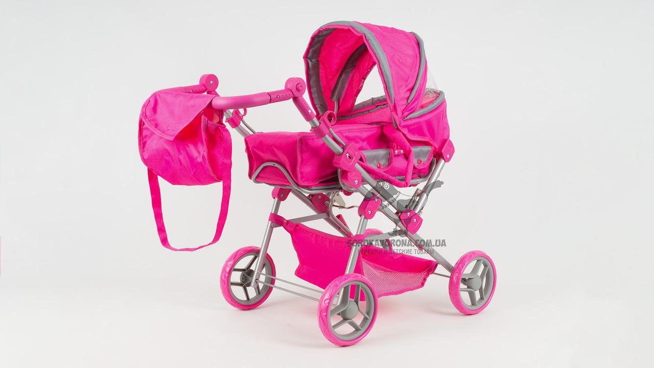 Коляска для куклы металлическая. MELOGO 9368(017). Люлька-переноска. С корзиной и сумкой.