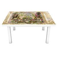 Наклейка на стіл Палац у моря 3Д вінілова плівка Абстракція Бежевий 600*1200 мм