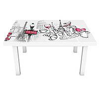 Наклейка на стіл Рим Лондон Париж 3Д вінілова плівка міста Абстракція Сірий 600*1200 мм