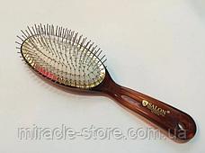 Массажная щётка Salon Professional 6233TTH расческа большая с металлической щетиной, фото 2
