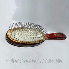 Массажная щётка Salon Professional 6233TTH расческа большая с металлической щетиной, фото 3