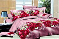 Комплект постельного белья двухспальный Розы R-Y3D502 Евро