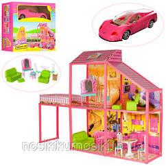 Кукольный домик 6981 для Барби My Lovely Villa - 2 этажа, 4 комнаты, машина