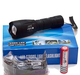 Потужний Тактичний Ліхтарик Police BL-Q1891-T6 Black 158000W для полювання і риболовлі.