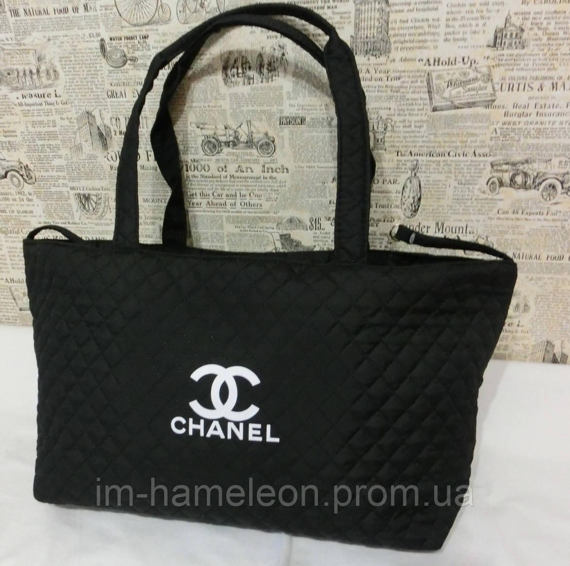 Стеганая женская сумка Chanel тканевая - Интернет-магазин