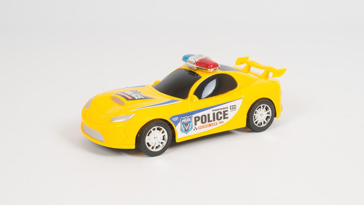 Машинка полицейская. Двигается по инерции. 2 цвета