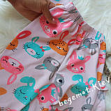 Хлопковая пижама для девочки Зайки, фото 2