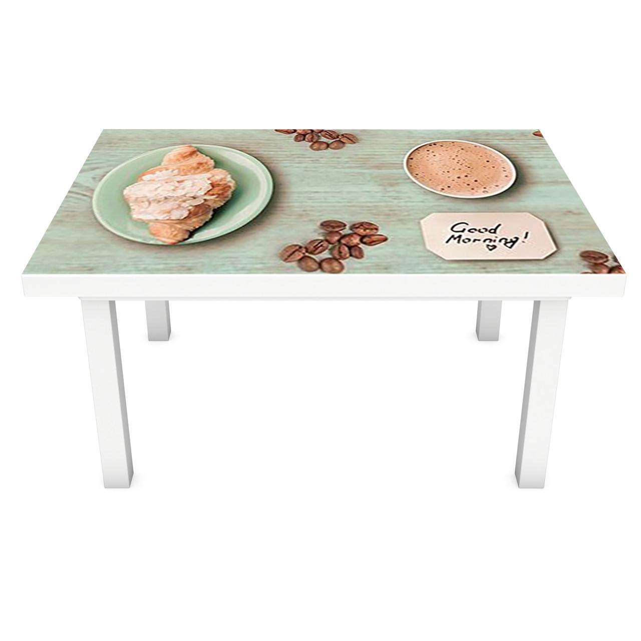 Наклейка на стол Мятный Прованс (3Д виниловая пленка 3Д) доски кофе Еда Зеленый 600*1200 мм