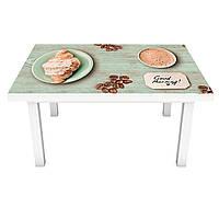 Наклейка на стол Мятный Прованс (3Д виниловая пленка 3Д) доски кофе Еда Зеленый 600*1200 мм, фото 1