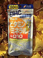 Витамины + Минералы + Коэнзим Q10. Курс - 100 капсул на 20 дней. DHC, Япония