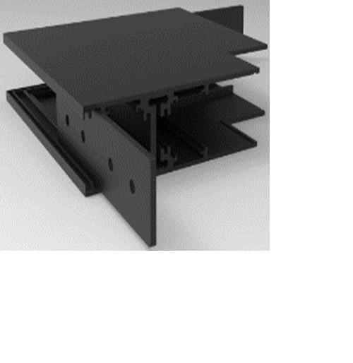 Угловой соединитель 90° внутреннее для накладного магнитного шинопровода Vela VL-MG-S20-DJNJ