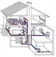 Система отопления, тепловой расчет и полная комплектация оборудованием