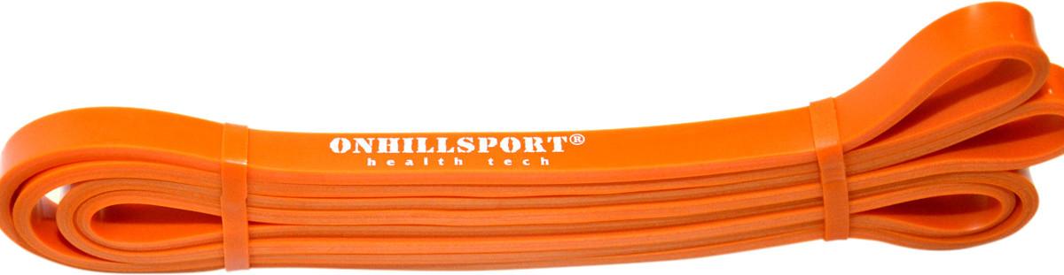 Эспандер-петля Onhillsport POWER BANDS 2080x13x4,5 мм нагрузка 3-16 кг оранжевая для тренировок (LP-0001)