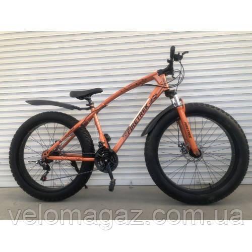 """Велосипед TopRider 215 26"""", колеса 4.0"""