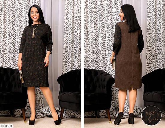 """Изысканное женское платье  с принтом, ткань """"Коттон"""" 58 размер, фото 2"""